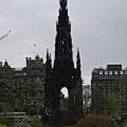 Scott Monument Inside The Princes Street Gardens In Edinburgh Poster
