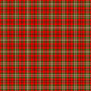 Scott Red Tartan Variant Poster by Gregory Scott