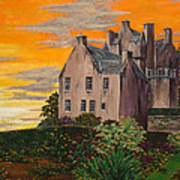 Scottish Gardens At Sunset Poster