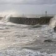 Scottish Sea Storm Poster