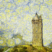 Starry Scrabo Tower Poster