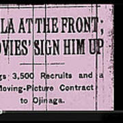 Screen Capture  Newspaper Article  Mutual Film Corporation's  The Life Of General Villa 1914-2013 Poster