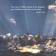 Scripture And Picture Psalm 36 5 Poster