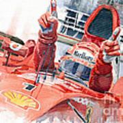 Scuderia Ferrari Marlboro F 2001 Ferrari 050 M Schumacher  Poster by Yuriy  Shevchuk