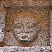 Sculpted Face At Bosra Syria Poster