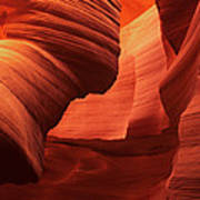 Sculpted Sandstone Upper Antelope Slot Canyon Arizona Poster