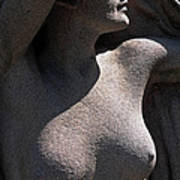 Sculpture Of Angelic Female Body Poster