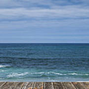 Sea And Wooden Platform Poster