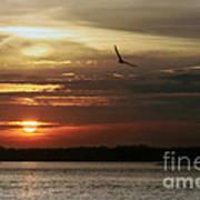 Sea Bright Sunset Poster