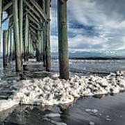 Sea Foam And Pier Poster