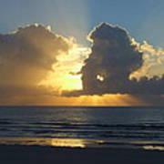 Sea Island Sun Rays Poster