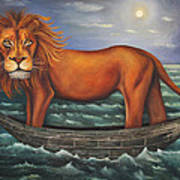 Sea Lion Softer Image Poster by Leah Saulnier The Painting Maniac