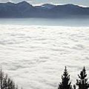 Sea Of Fog And Alps Poster