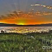 Sea Of Galilee Sunset Poster