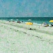 Sea Of Umbrellas Poster