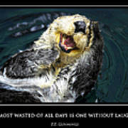 Sea Otter Motivational  Poster