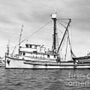Purse Seiner Sea Queen Monterey Harbor California Fishing Boat Purse Seiner Poster