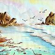 Sea Shore Impressions Poster