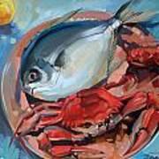 Seafood Still Life Poster
