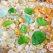 Seaglass Green Art Prints Agates Beach Garden Poster