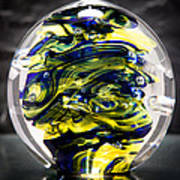 Seahawks Glass -  Solid Glass Sculpture  Poster