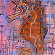 Seahorse Sandy Poster
