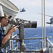 Seaman Apprentice Stands Watch Aboard Poster