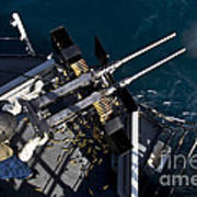 Seaman Fires Twin .50 Caliber Machine Poster