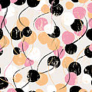 Seamless Background Pattern, With Poster
