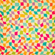 Seamless Color Mosaic Background Poster