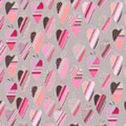 Seamless Pattern With  Vintage Tilda Poster