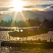Seaplane Sunset Poster