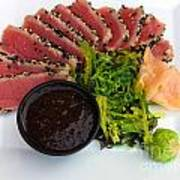 Seared Tuna With Ginger Poster