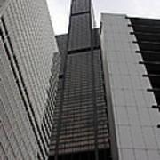 Sears Between Two Buildings Poster