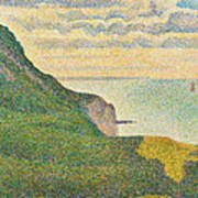Seascape At Port En Bessin Normandy Poster by Georges Seurat