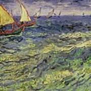 Seascape At Saintes-maries 1888 Poster