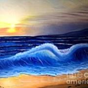 Seascape Wave Poster by Barbara Pelizzoli
