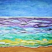 Seashore Blue Sky Poster