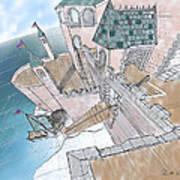 Seaside Castle Poster