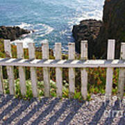Seaside Fence Poster