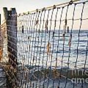 Seaside Nets Poster