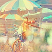 Seaside Town Poster by Elle Moss
