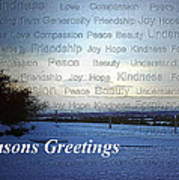 Seasons Greetings Wishes Poster