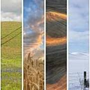 Seasons Of The Palouse II Poster by Latah Trail Foundation