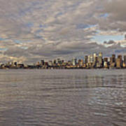 Seattle Cityscape In Clouds  Poster