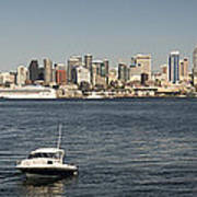 Seattle From Alki Beach Poster