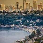 Seattle From The Air Poster