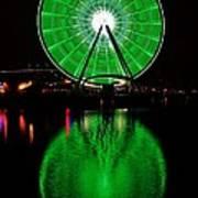Seattle Great Wheel In Motion Poster