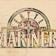 Seattle Mariners Poster Art Poster
