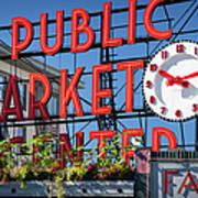 Seattle Market  Poster by Brian Jannsen